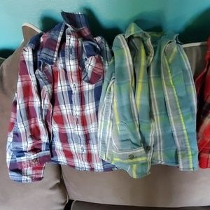 Set of 3 Long Sleeve Button Down